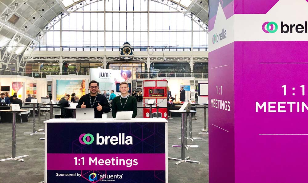 A prepared Brella 1:1 meeting area for your event